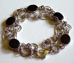 Silver and Bloodstone Bracelet