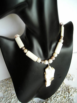 Stone White Necklace 1