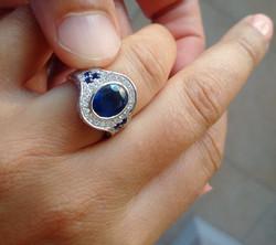 Big, Bold, Blue Sapphire Ring