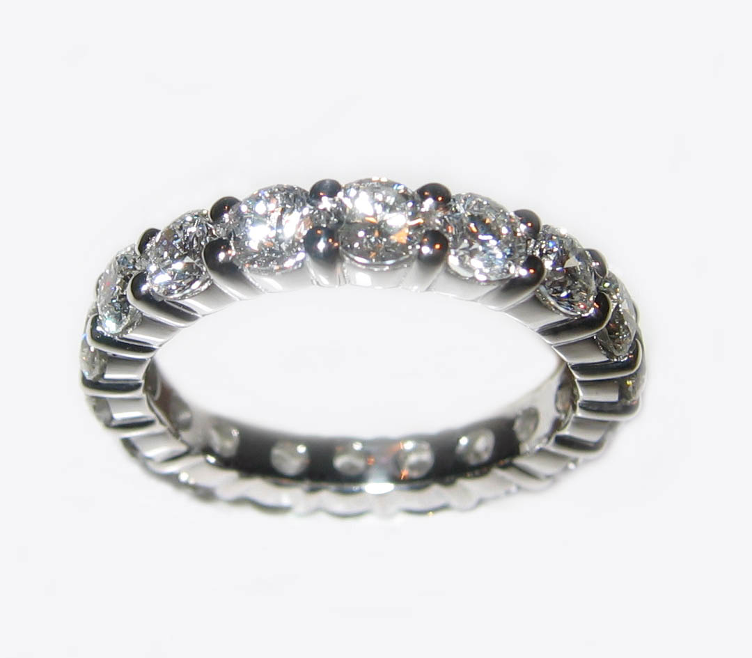 Diamond and Platinum Eternity Ring