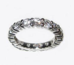 Diamond and Platinum Eternity Ring