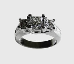 The Princess X3 Diamond Ring