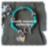 Turquoise-Howlite beads with Sterling Silver