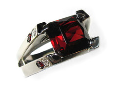 Magnificent Red Garnet Ring