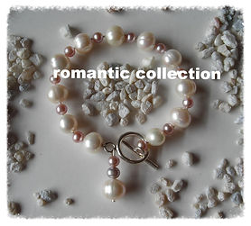 White and Pink Pearls with Silver