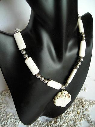 Stone White Necklace 2