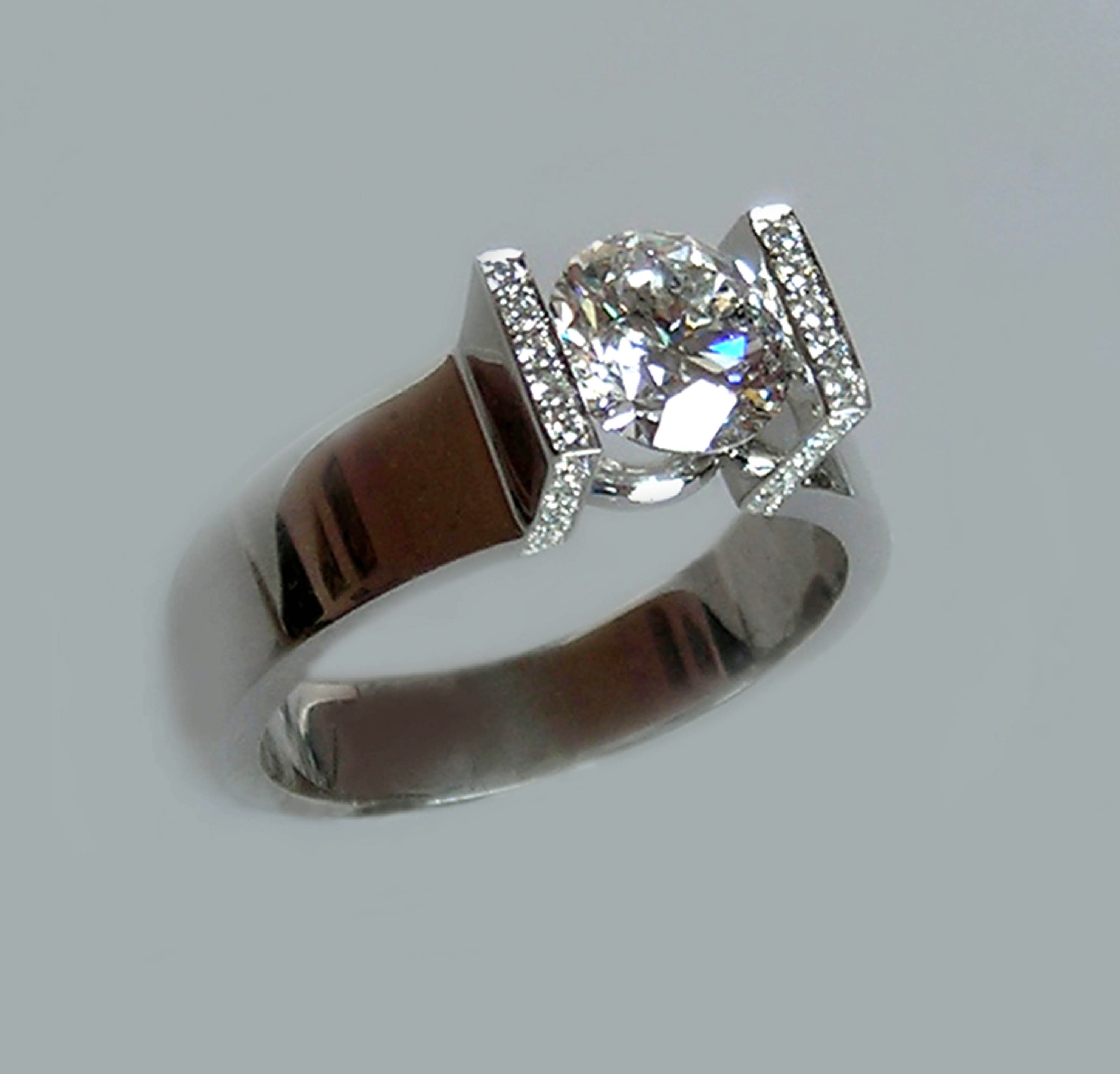 "The ""Floating"" Diamond Ring"