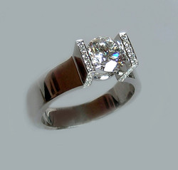"""The """"Floating"""" Diamond Ring"""