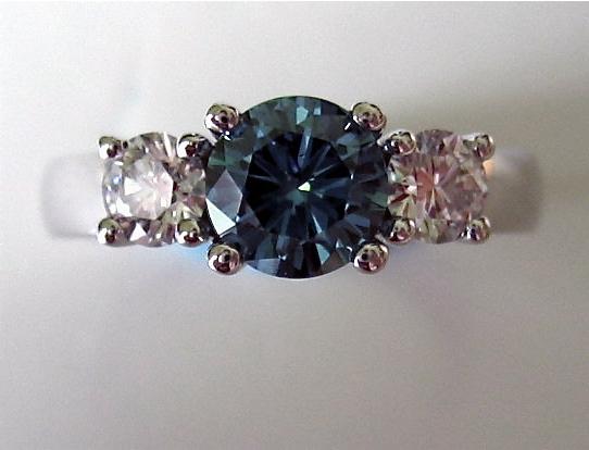 Blue Diamond with White Diamonds