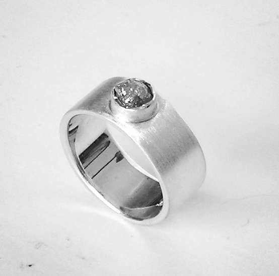 The Rough Diamond Silver Ring