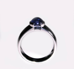 Cabochon Sapphire Engagement Ring