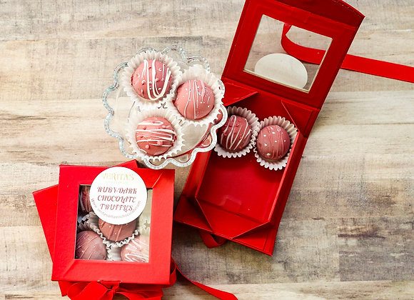 Ruby & Caramel Chocolate Truffles