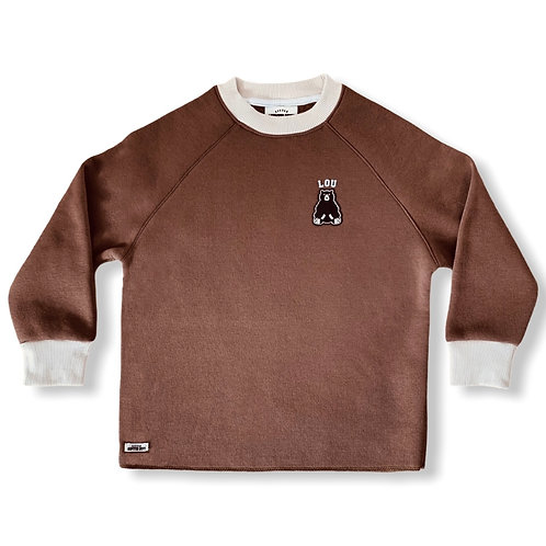 SWEATSHIRT LITTLE HIPSTER BOYS MARRON GLACÉ