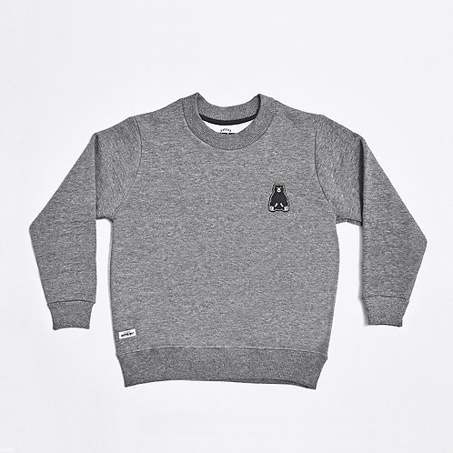 SWEATSHIRT LITTLE HIPSTER BOYS GRIS