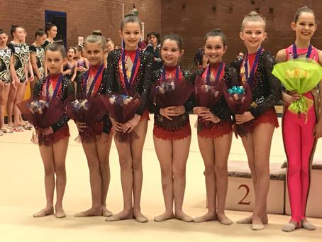 City of Bath Rhythmic Gymnastics Club Medal Winners at the Rose Cup & Awarded Athletics Sports Grant