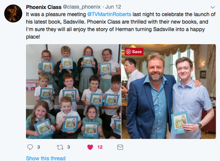 The first classes in Somerset Schools get their copy of Sadsville