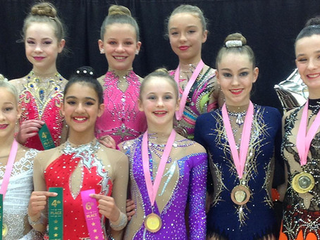 Bath Rhythmic Gymnastics Club Win 8 Medals & 5 Top Placings at the National Sandymoor Cup Comp