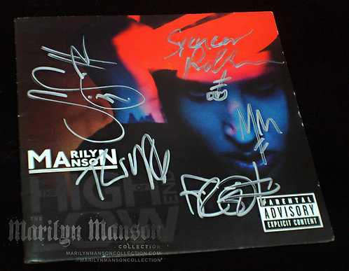 Marilyn Manson Full Band Signed The High End Of Low CD