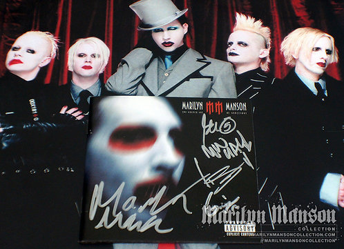 Marilyn Manson Full Band Signed Golden Age Of Grotesque Promo CD