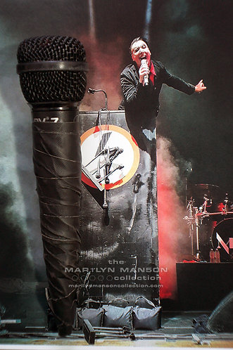 Marilyn Manson Stage Used Podium Microphone