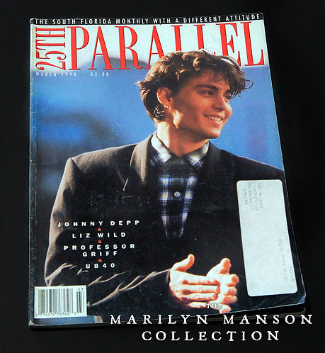 25th Parallel March 1990 Brian Warner Interviews Johnny Depp Cover Story
