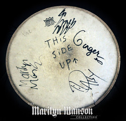 SLC Signed Band Drumhead