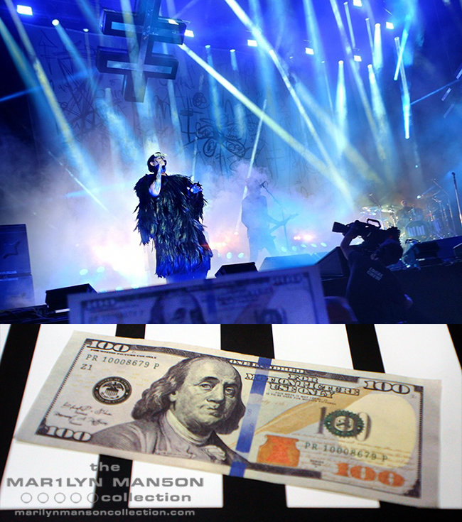 Marilyn Manson Stage Used Prop Money