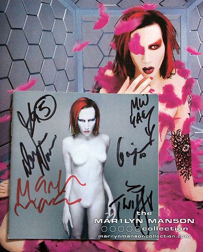 Full Band Signed And Dave Navarro Mechanical Animals CD Cover