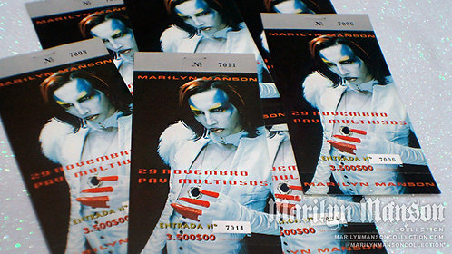 Mechanical Animals Portugal 1998 Show Custom Double Sided Ticket