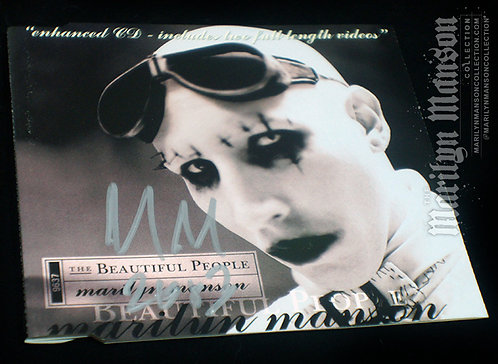 Marilyn Manson Signed The Beautiful People CD Single