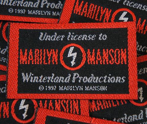 Antichrist Superstar Winterland Unused Merch Label
