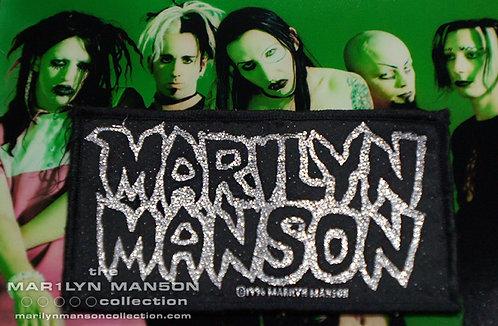 Marilyn Manson 1996 Portrait Logo Patch