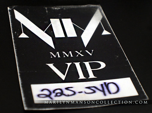 MMXV The Pale Emperor Tour VIP Pass