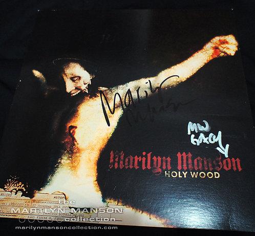 Marilyn Manson and Pogo Signed Holy Wood Promo Flat