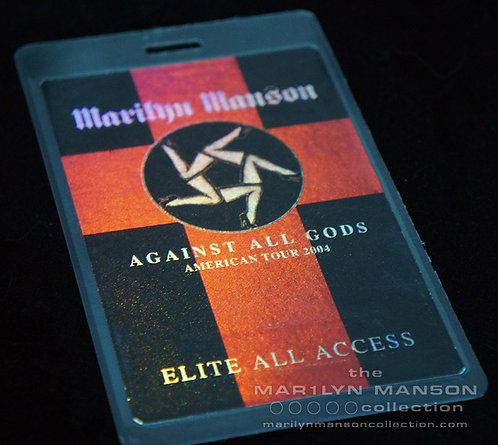 Against All Gods 2004 UK Tour All Access Laminate