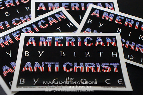 Antichrist By Choice Official Winterland Sticker