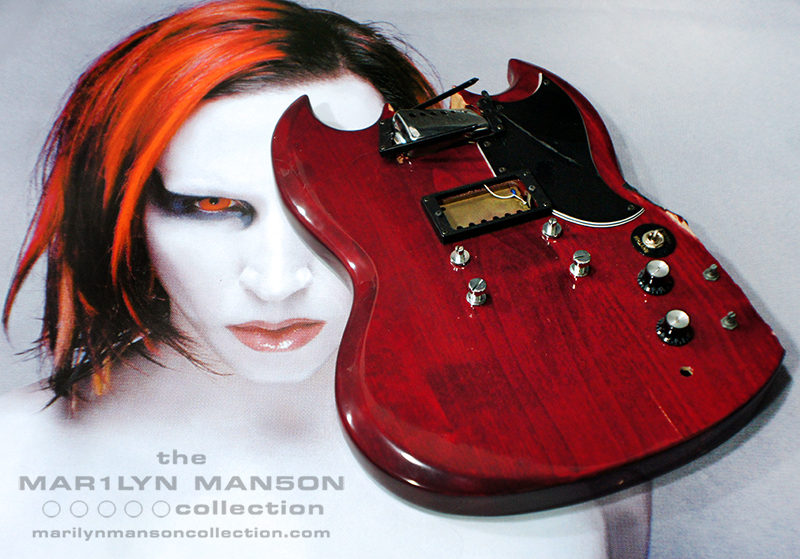 Marilyn Manson Smashed Guitar