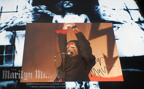 Marilyn Manson Signed Dead To The World Live Photo