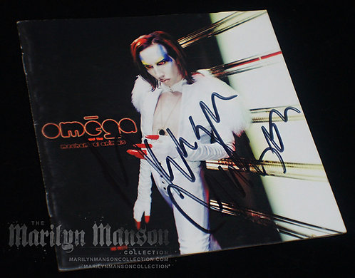 Marilyn Manson Signed Mechanical Animals CD Booklet 2