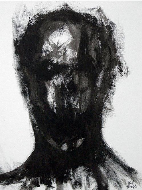 Figure In Shadows Original Painting