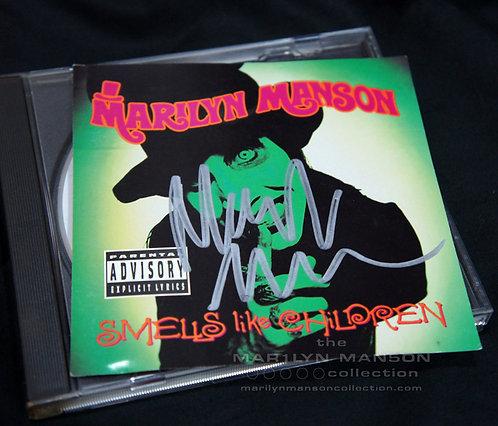Marilyn Manson Smells Like Children Signed CD