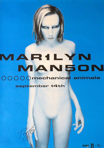 Mechanical Animals Blue Alternate Art Poster Signed By Twiggy