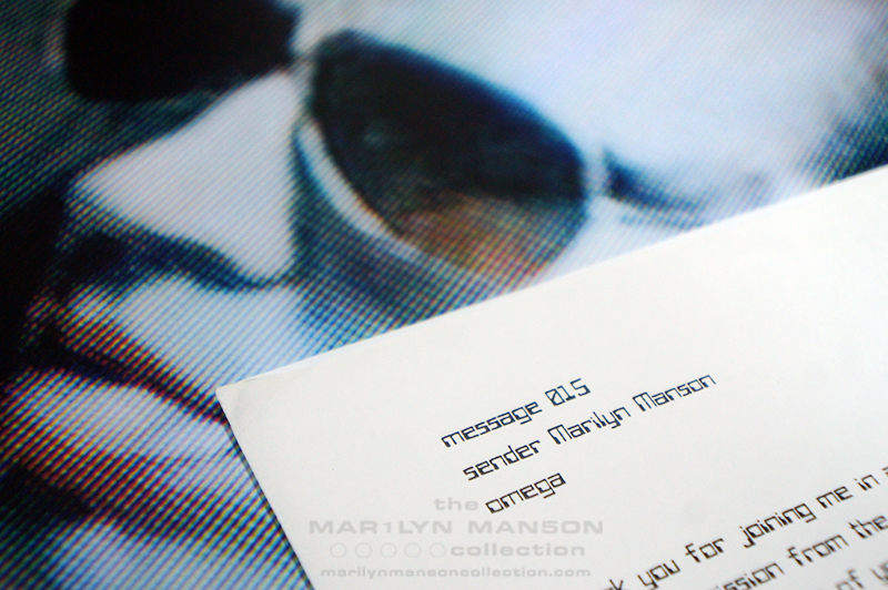 Mechanical Animals Letter (detail)