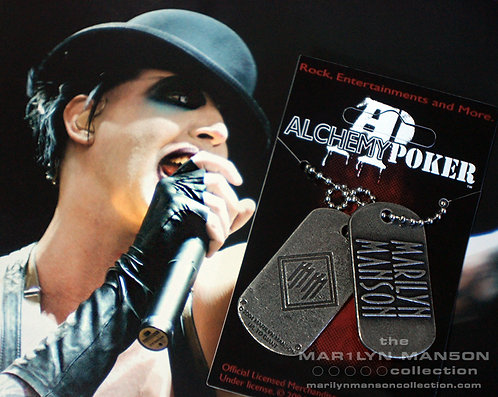 Golden Age of Grotesque Alchemy Poker Dog Tag Necklace