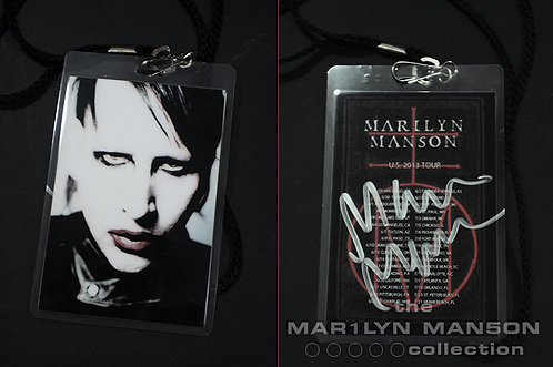 Marilyn Manson Signed Meet and Greet Pass 2013