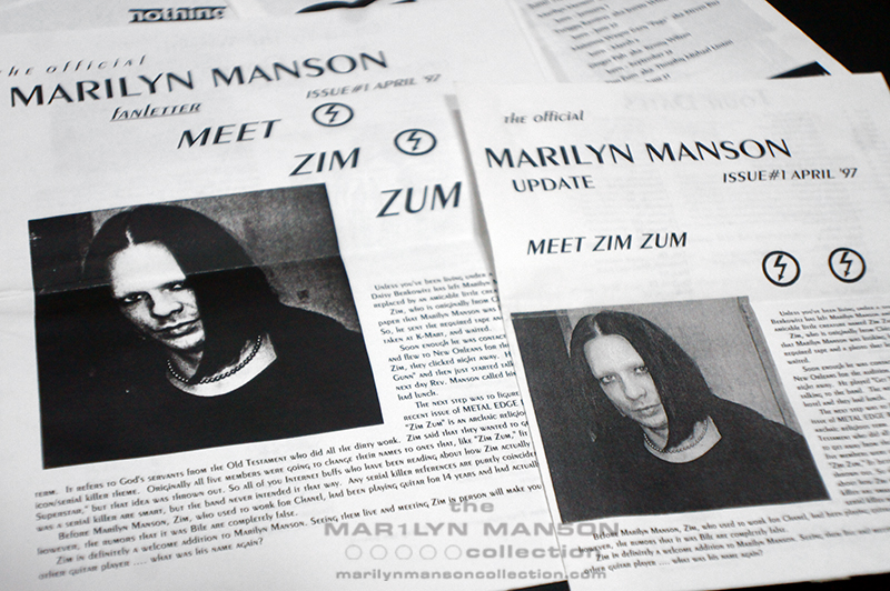 Marilyn Manson Newsletters