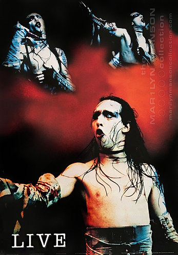 Marilyn Manson Dead To The World Tour Live Poster