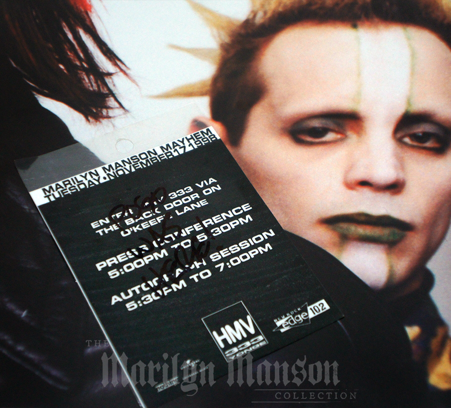 Marilyn Manson Mayhem Instore Pass