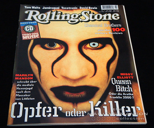 Marilyn Manson 1999 Rolling Stone Magazine Germany Alternate Cover