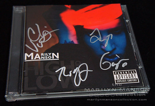 Band Signed The High End Of Low CD